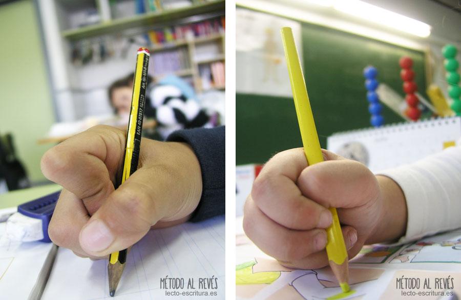 agarre incorrecto del lápiz