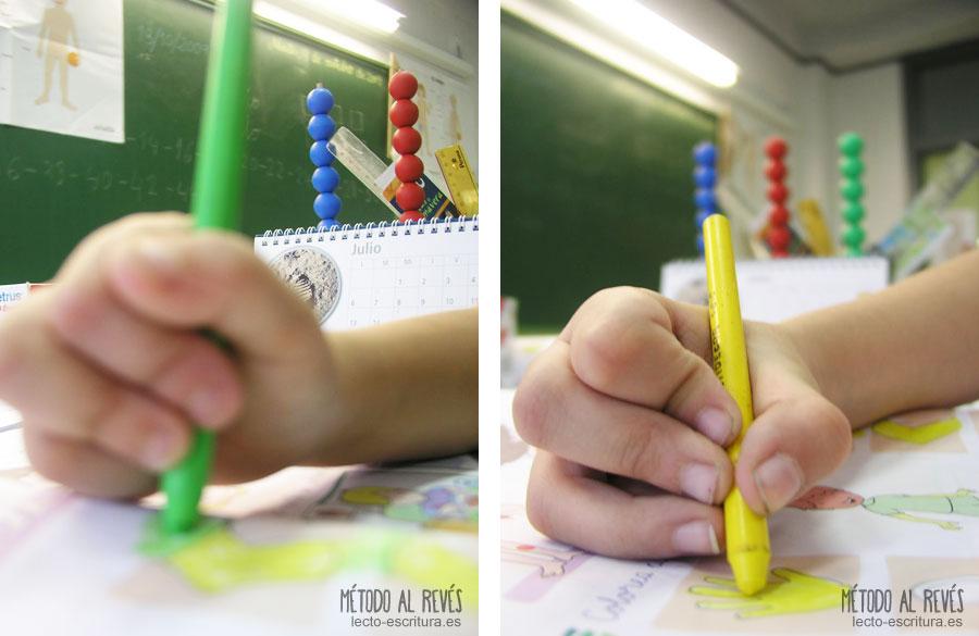 apoyos multiples, agarre incorrecto del lápiz