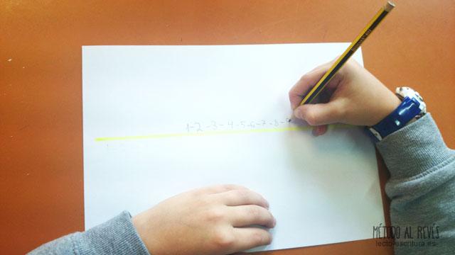 posición incorrecta escribir diestros
