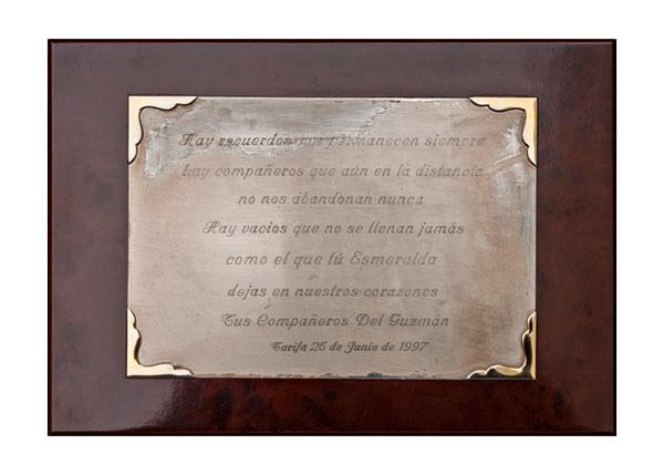 placa recuerdo Colegio Guzmán el Bueno