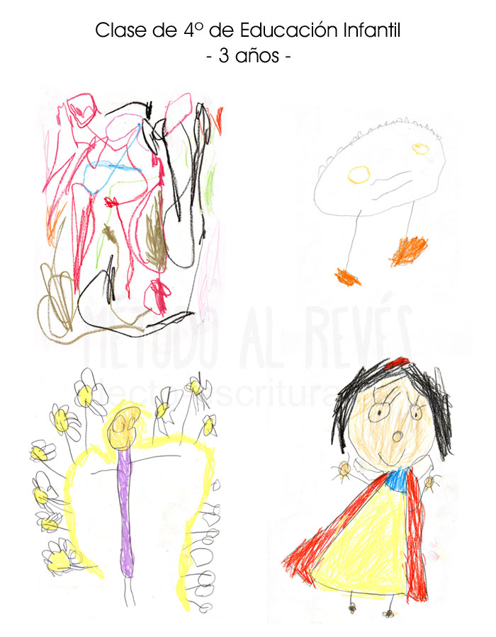 dibujos Clase de 4º de Educación Infantil 3 años