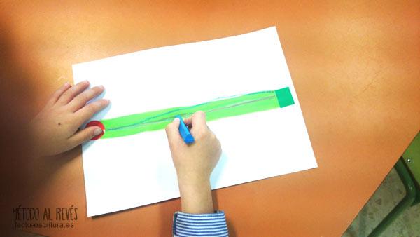 ejercicios linea escritura diestros